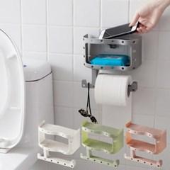 욕실선반기능 흡착 코너 휴지걸이 케이스