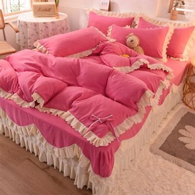 침구 매트리스 침대 이불 베개 매트 커버 세트 핑클