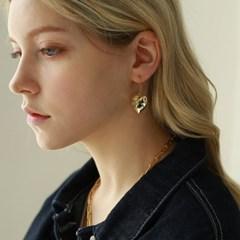 글로시 하트 휘시훅 귀걸이
