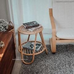 까유니아 라탄 2단 협탁 커피테이블