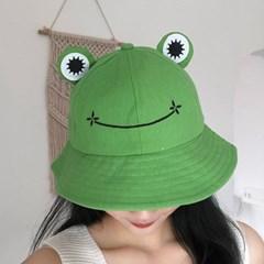 프로그 귀여운 개구리 벙거지 버킷햇 모자_(2573007)