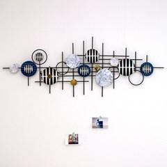 모던 원형 패턴 철재 벽장식 북유럽풍 인테리어 소품
