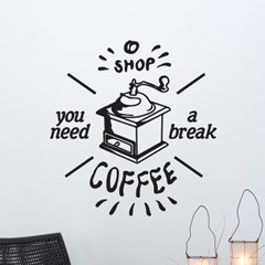 you need a break 카페 빈티지디자인 인테리어 스티커
