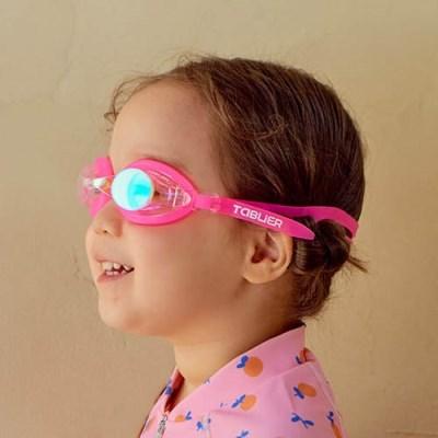 레인보우 UV차단 유아동 물안경