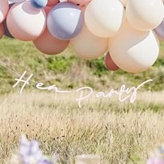 [빛나파티]파우더 핑크 보호 Hen Party 가랜드