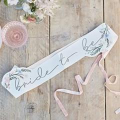 [빛나파티]보호 플로랄 브라이덜샤워 어깨띠 Boho Floral Bride To B
