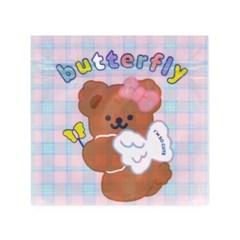 버터플라이 곰돌이 지퍼백 (10개)