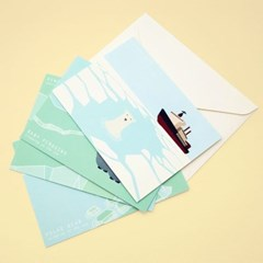 [스위밍댄스] 북극곰 펭귄 미니 카드