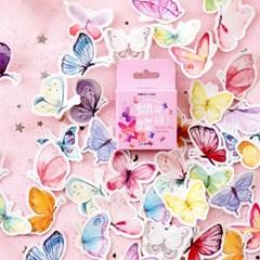 감성 나비 수채화 스티커 다이어리꾸미기 다꾸용품
