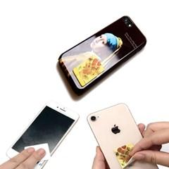 명화 사각형 초극세사 스티커클리너 휴대폰클리너 폰꾸미기