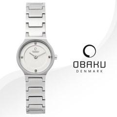 OBAKU 오바쿠 V133SCISC 여성시계 메탈밴드 손목시계