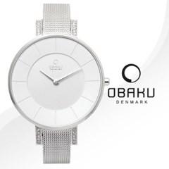 OBAKU 오바쿠 V158LECIMC 여성시계 메탈밴드 손목시계