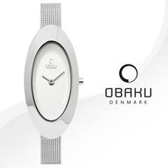 OBAKU 오바쿠 V156LCIMC 여성시계 메탈밴드 손목시계