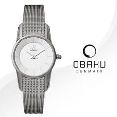 OBAKU 오바쿠 V130LCIMC 여성시계 메쉬밴드 손목시계