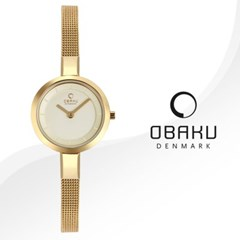 OBAKU 오바쿠 V129LGGMG 여성시계 메쉬밴드 손목시계