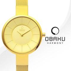 OBAKU 오바쿠 V149LGGMG 여성시계 메탈밴드 손목시계