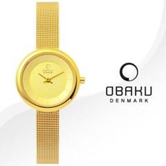 OBAKU 오바쿠 V146LGGMG 여성시계 메쉬밴드 손목시계