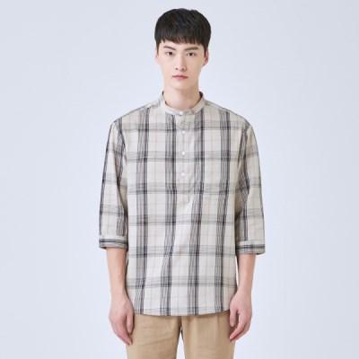 [쿨비즈] 매쉬 풀오버 7부 셔츠_SPYWA24M13