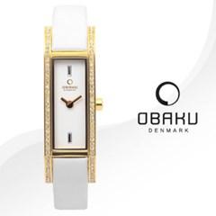 OBAKU 오바쿠 V159LEGIRW 여성시계 가죽밴드 손목시계