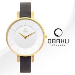 OBAKU 오바쿠 V158LEGIRB 여성시계 가죽밴드 손목시계