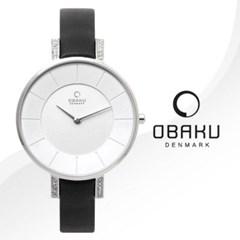 OBAKU 오바쿠 V158LECIRB 여성시계 가죽밴드 손목시계