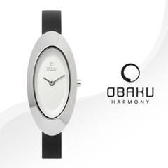 OBAKU 오바쿠 V156LCIRB 여성시계 가죽밴드 손목시계