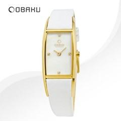 OBAKU 오바쿠 V150LXGIRW 여성시계 가죽밴드 손목시계