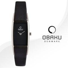 OBAKU 오바쿠 V150LABRB 여성시계 가죽밴드 손목시계