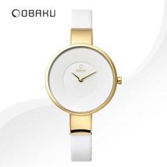 OBAKU 오바쿠 V149LXGIRW 여성시계 가죽밴드 손목시계