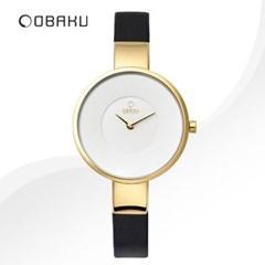 OBAKU 오바쿠 V149LXGIRB 여성시계 가죽밴드 손목시계