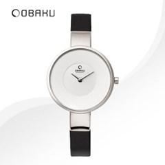 OBAKU 오바쿠 V149LXCIRB 여성시계 가죽밴드 손목시계