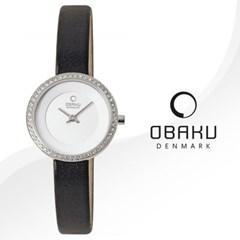 OBAKU 오바쿠 V146LECIRB 여성시계 가죽밴드 손목시계