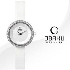 OBAKU 오바쿠 V146LCIRW2 여성시계 가죽밴드 손목시계