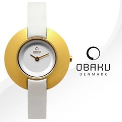 OBAKU 오바쿠 V135LGIRW 여성시계 가죽밴드 손목시계