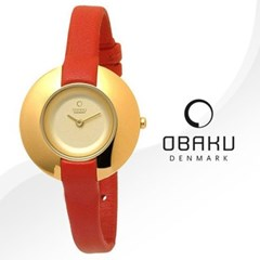 OBAKU 오바쿠 V135LGGRR 여성시계 가죽밴드 손목시계