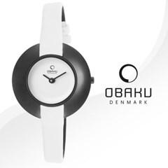 OBAKU 오바쿠 V135LBIRW 여성시계 가죽밴드 손목시계