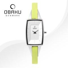 OBAKU 오바쿠 V120LCIRE 여성시계 가죽밴드 손목시계