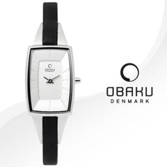 OBAKU 오바쿠 V120LCIRB 여성시계 가죽밴드 손목시계
