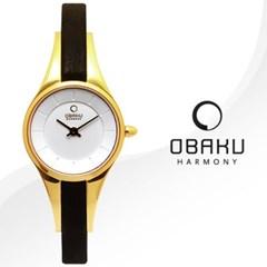 OBAKU 오바쿠 V110LGIRB 여성시계 가죽밴드 손목시계