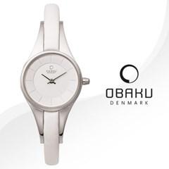 OBAKU 오바쿠 V110LCIRW 여성시계 가죽밴드 손목시계