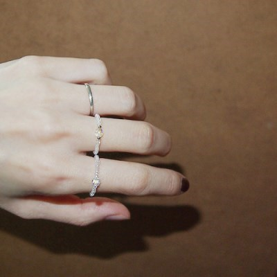 crystal_aurora_ring 심플 크리스탈 비즈반지