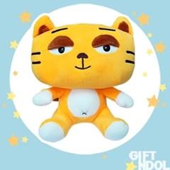 정품 동물인형 노랑고양이 봉제인형 25cm