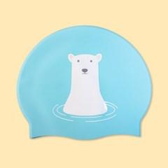 [스위밍댄스] 북극곰 실리콘 수영모자
