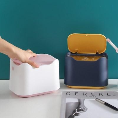 원터치 3L 휴지통 미니 소형 화장대 책상 쓰레기통