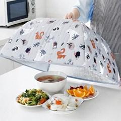 식탁보 상보 음식물 덮개 접어쓰는원터치푸드커버