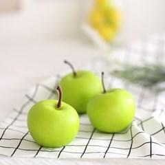 미니 초록 사과 모형 3P (6cm)