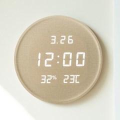 플라이토 루나 온습도 인테리어 LED 벽시계 29.5cm