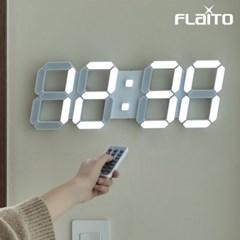 플라이토 3D LED 인테리어 벽시계 시즌3 LG전구 38cm 화이트