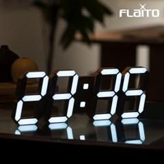 플라이토 3D LED 인테리어 벽시계 시즌5 퓨어 LG전구 38cm 화이트