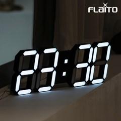 국산 플라이토 3D LED 인테리어 벽시계 삼성전구 38cm 블랙
